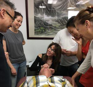 michelle gellis teaches facial acupuncture
